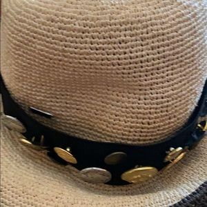 Vintage coins, accessories:black elastic hat band.